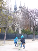 A little playground near the Notre Dame