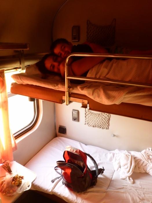 inside the sleeping cabin
