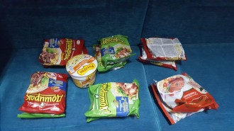 our stash of food